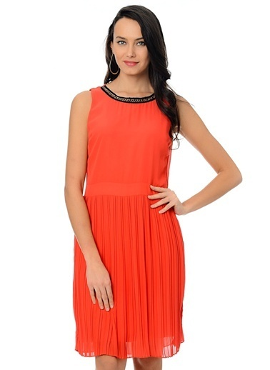 Caramel Elbise Oranj